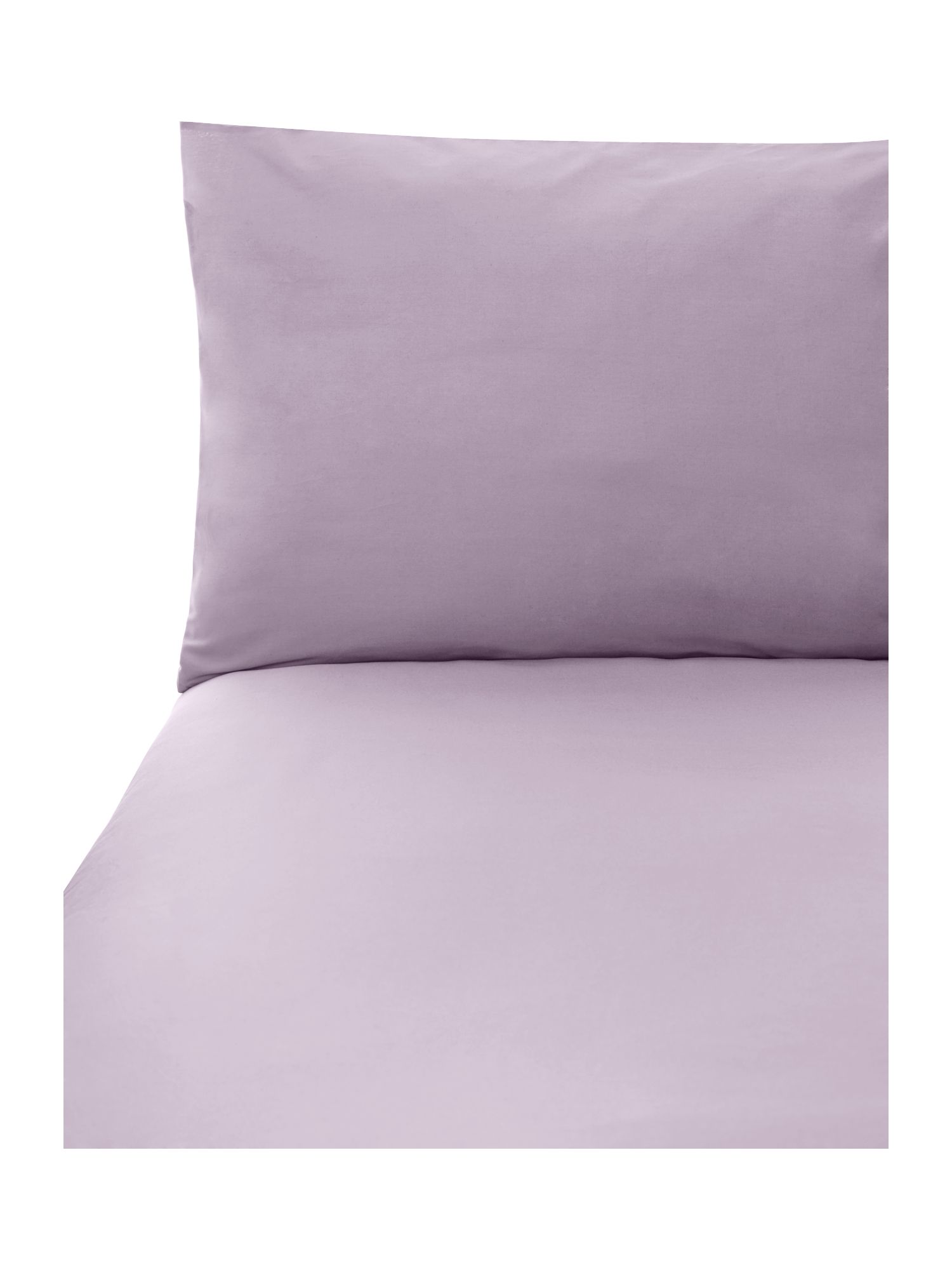 Lilac 100% cotton double flat sheet