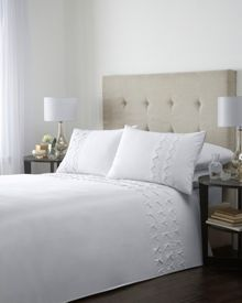 Box pleat superking duvet cover set in cream