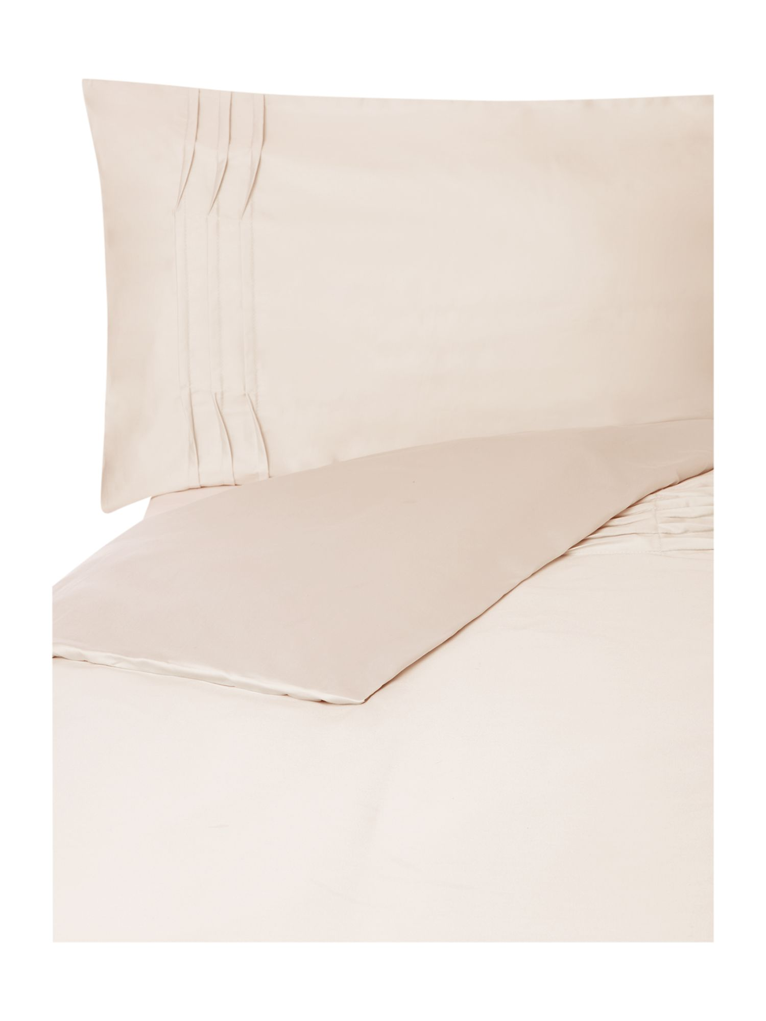 Ripple pleats duvet cover set in taupe