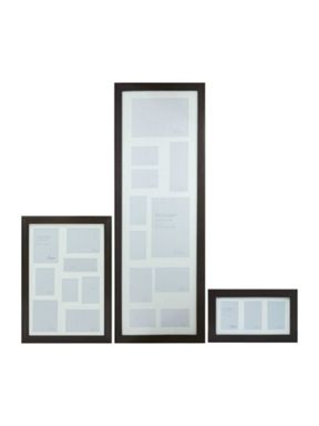 Linea Dark Wood Multi Aperture Photo Frames