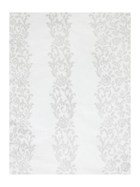 Shabby Chic Voile white frill bed linen in grey