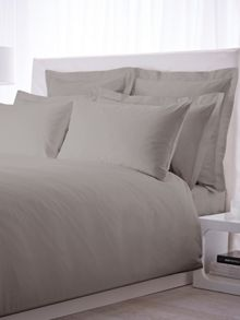 500 TC king size fitted sheet pair grey