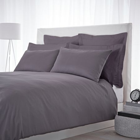 Luxury Hotel Collection 500 thread count double duvet cover set slate