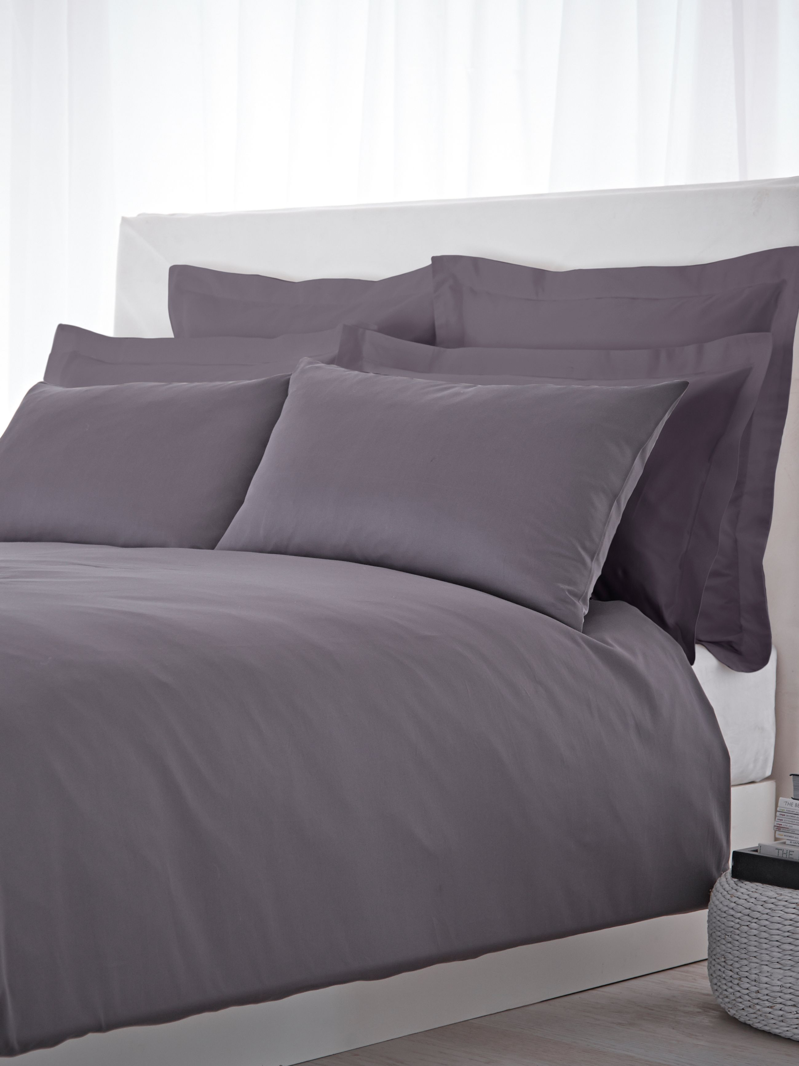 500 TC oxford square pillowcase pair slate