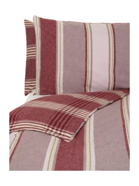 Linea Red flannel bed linen