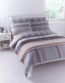Blue flannel king duvet cover set