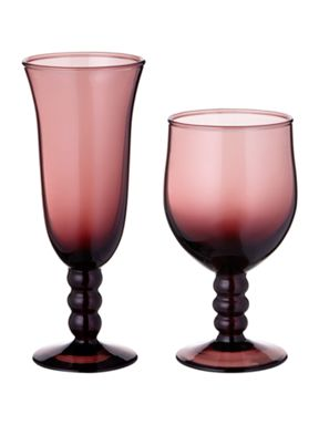 Linea Graphical rhythm plum glassware range