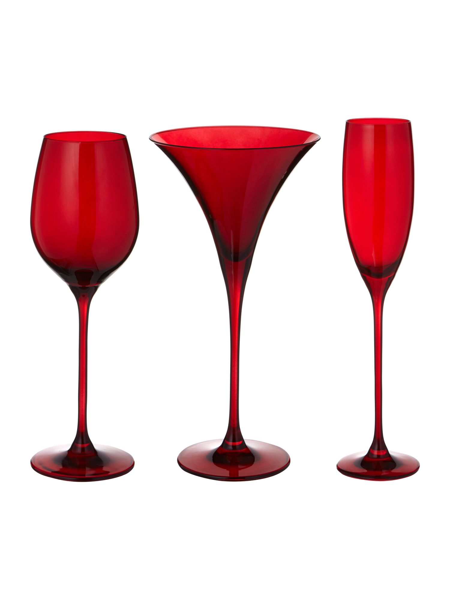 Ghost red glassware range