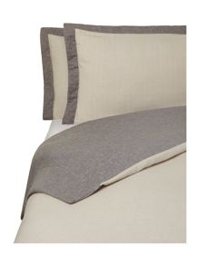 Oxford flannel bed linen in taupe