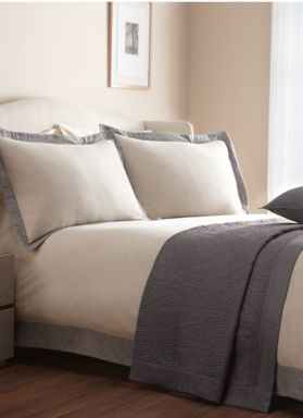 Casa Couture Oxford flannel bed linen in taupe