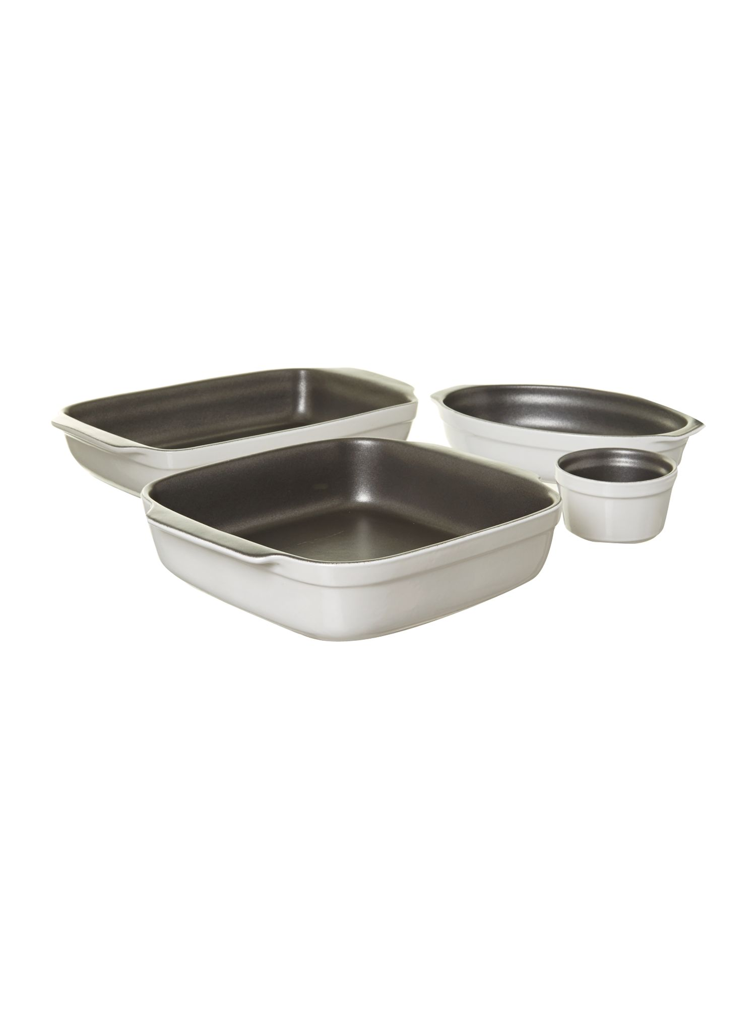 Non stick ovenware range in white