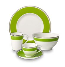 Anmut forest green dinnerware range