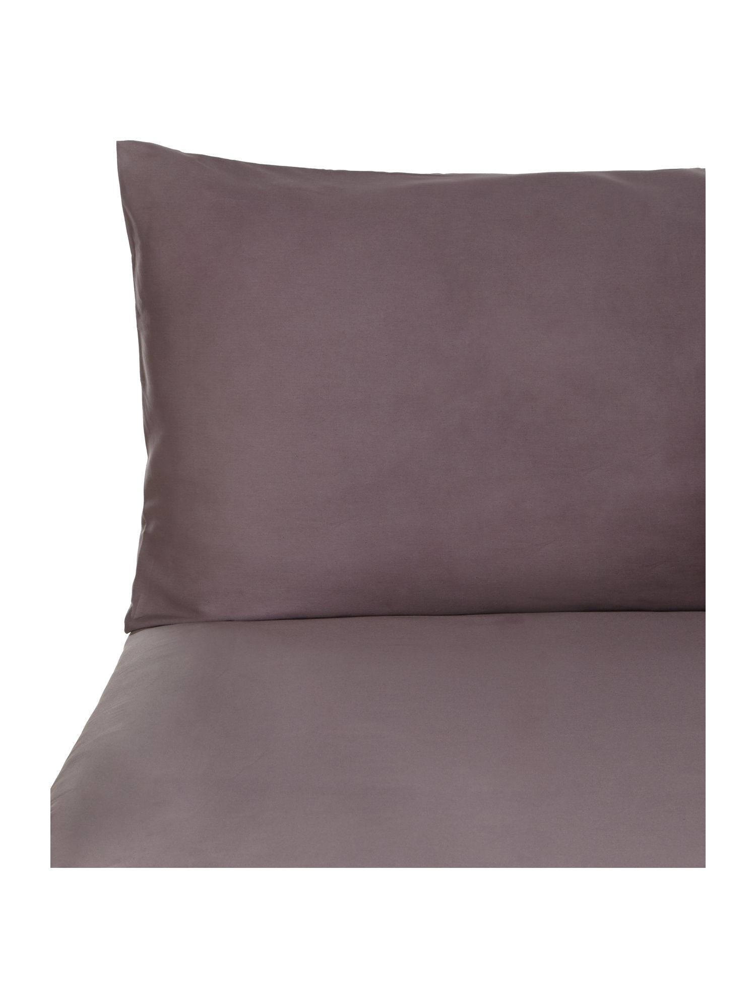 Graphite oxford pillowcase pair