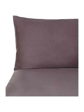 Pied a Terre Plain dye bed linen in graphite