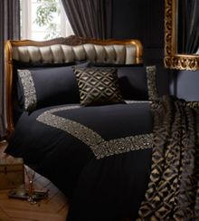 Serena housewife pillowcase pair black