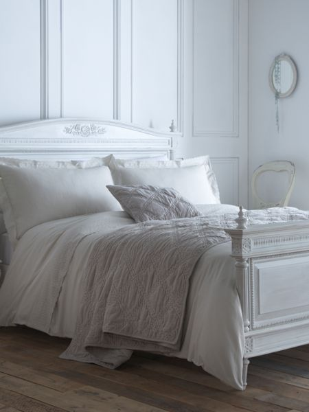 Shabby Chic Embroidered frill single duvet cover