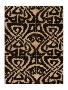 Biba Logo jacquard towels in black and sand