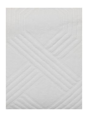 Living by Christiane Lemieux Geometric jacquard towels in white