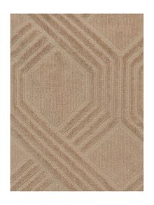 Geometric jacquard towels in stone