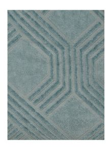 Living by Christiane Lemieux Geometric jacquard towels in blue