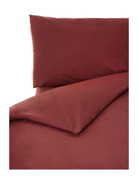 Linea 100% cotton king duvet cover claret
