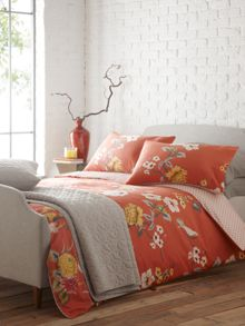 Living by Christiane Lemieux Red Birds King Duvet Cover