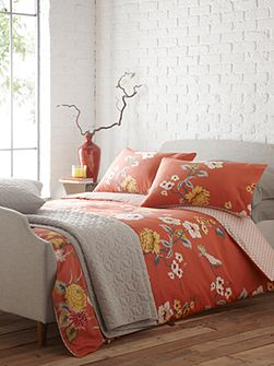 Red Birds King Duvet Cover