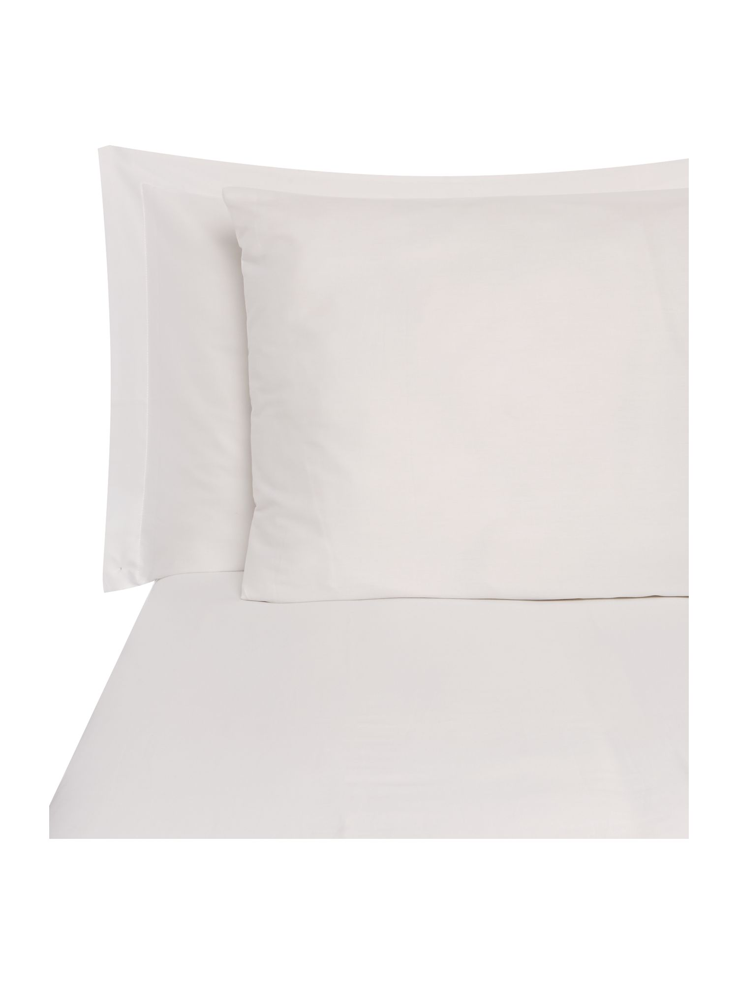 White oxford edge pillow case pair
