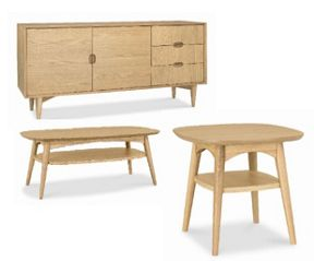 Dean Oak living furniture range