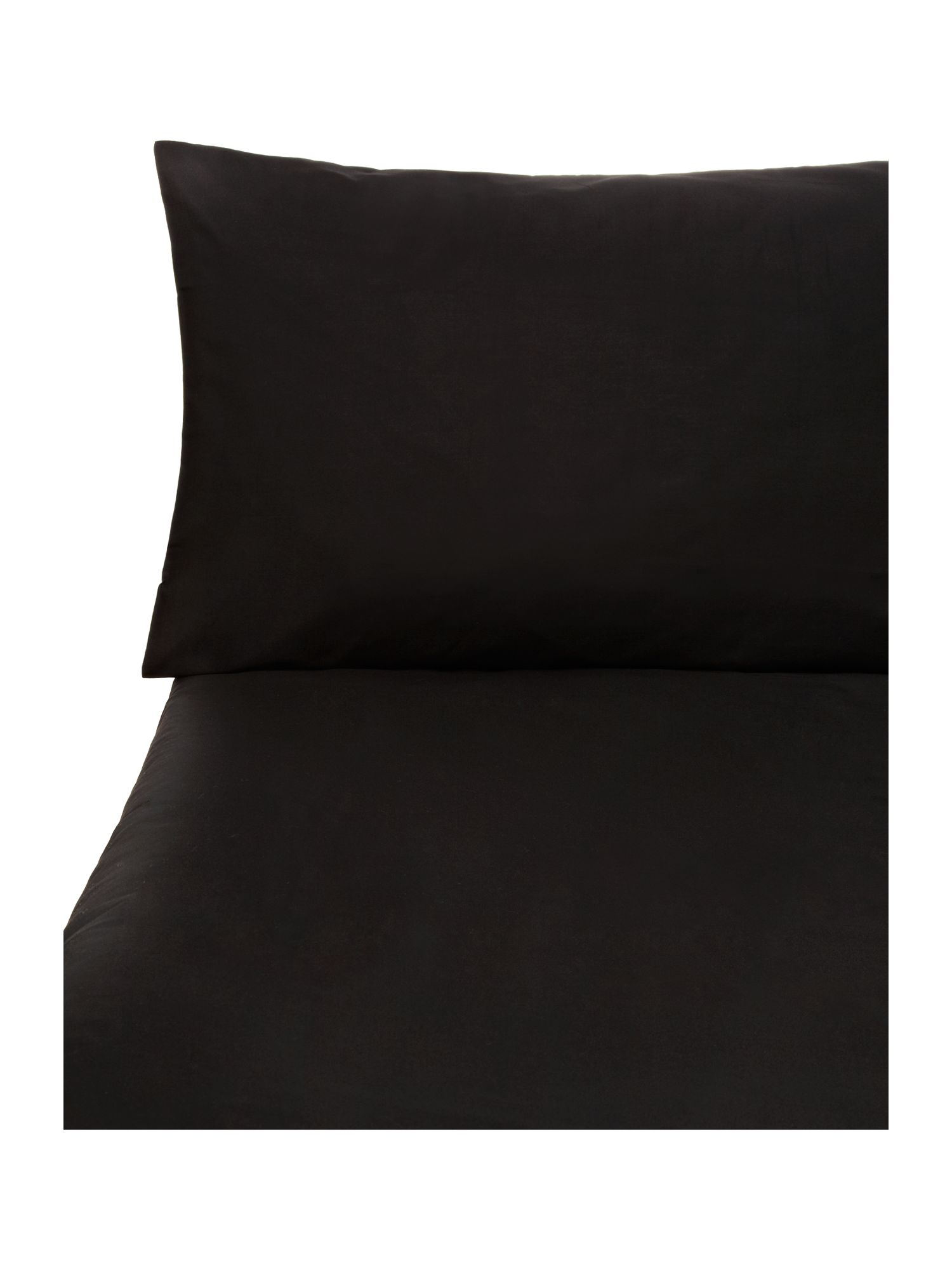 Black sheet housewife pillowcase pair