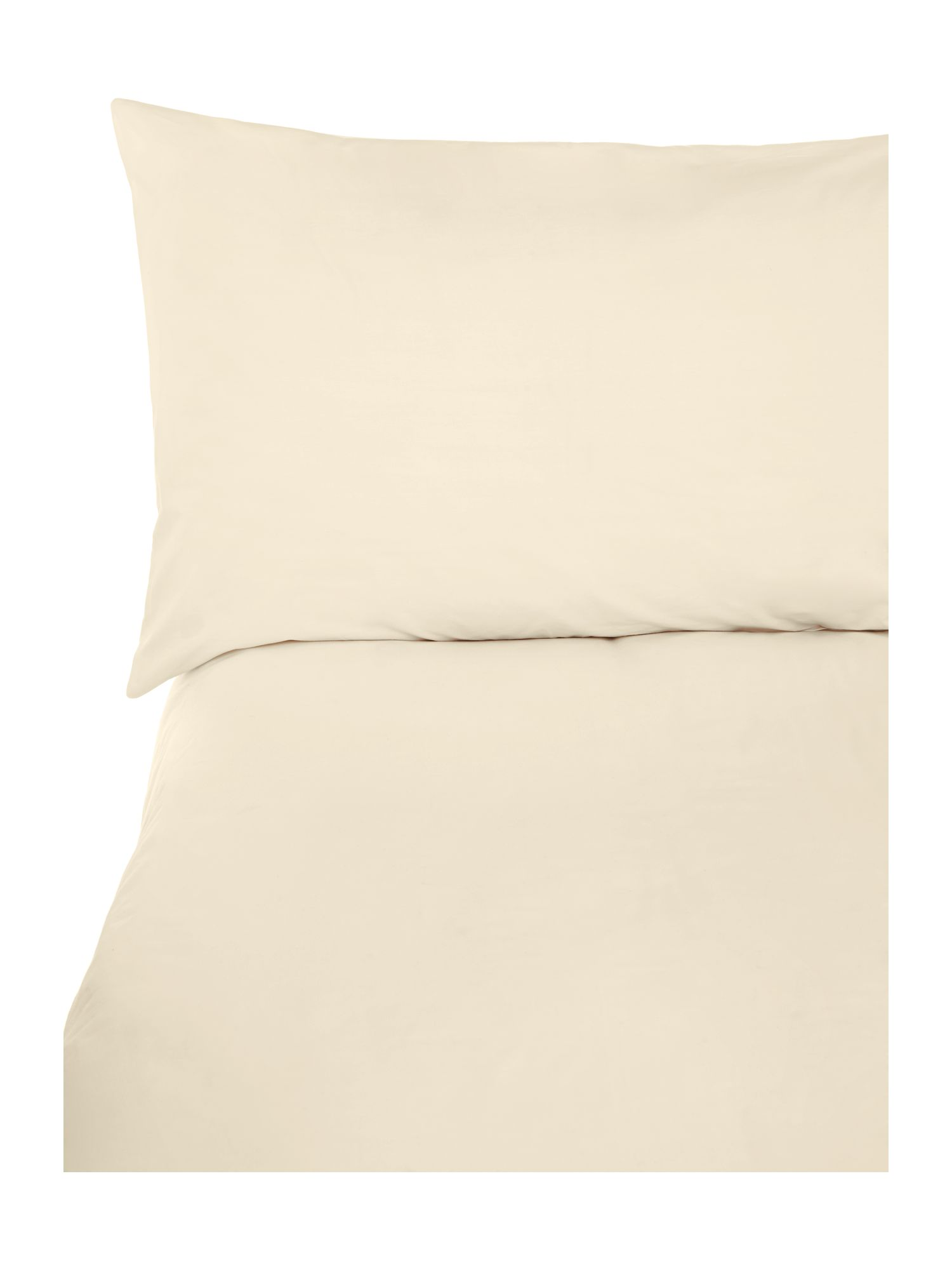 Ivory sheet housewife pillowcase pair