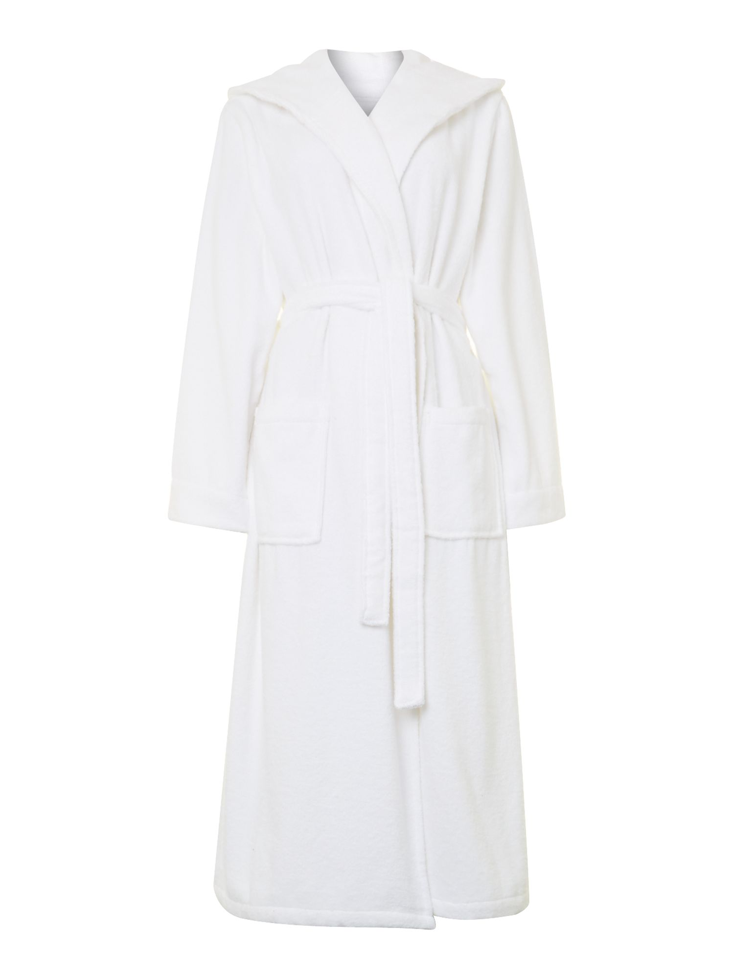 Zero twist white terry robe