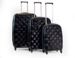 Lulu Guinness Lips black suitcase range