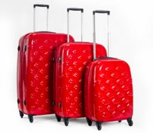 Lulu Guinness Lips red suitcase range