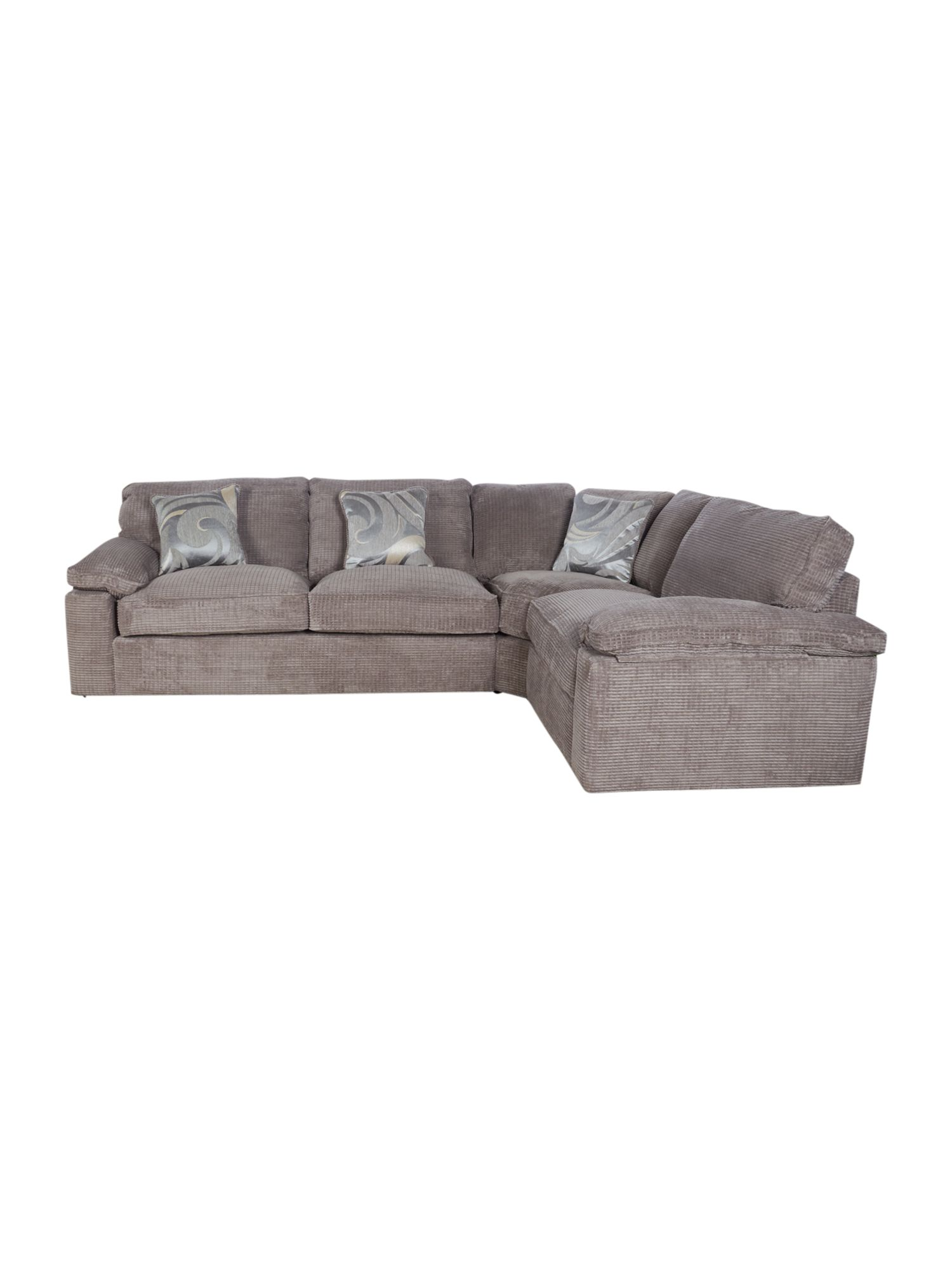 Roma corner sofa and chair range mink