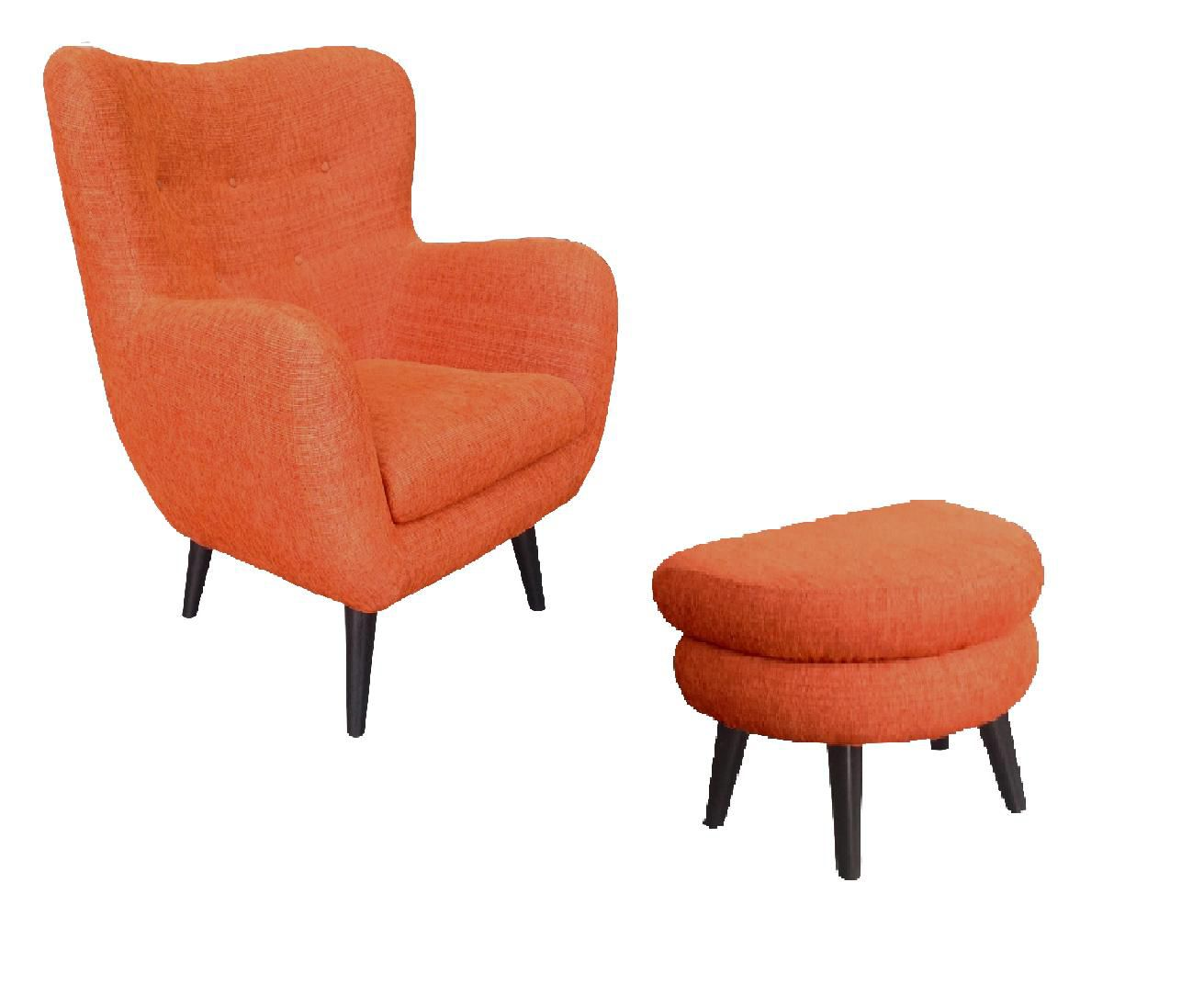 Otis Orange upholstery range