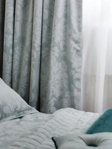 Natalia curtains in aqua