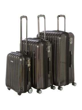 Linea Titanium dark grey luggage range
