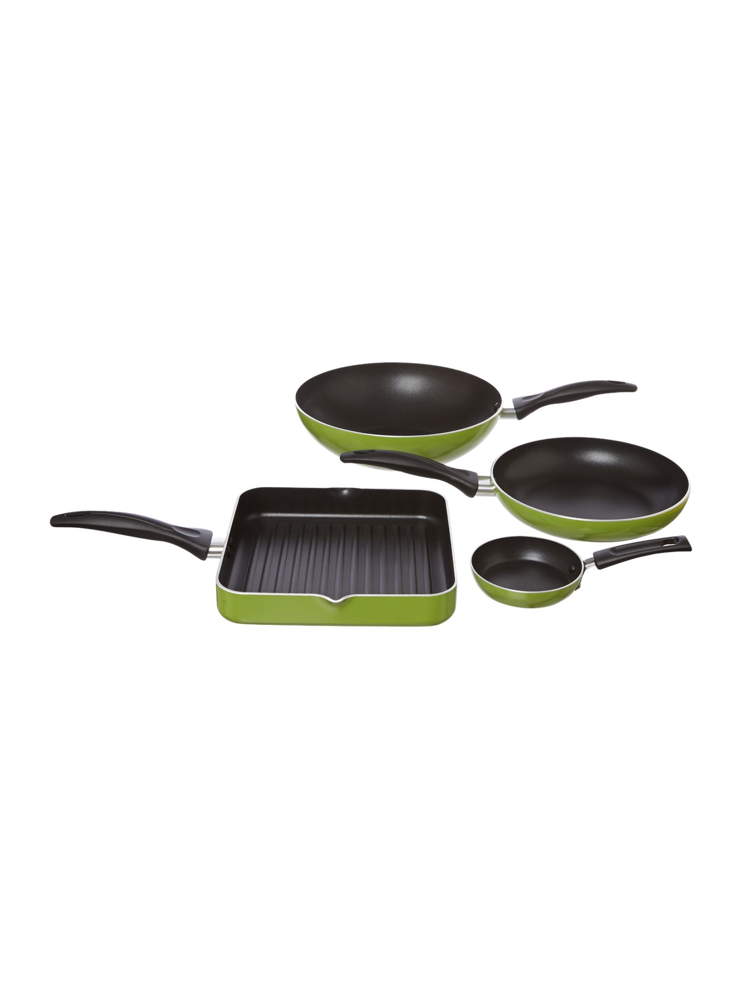 Open frypan range in Lime