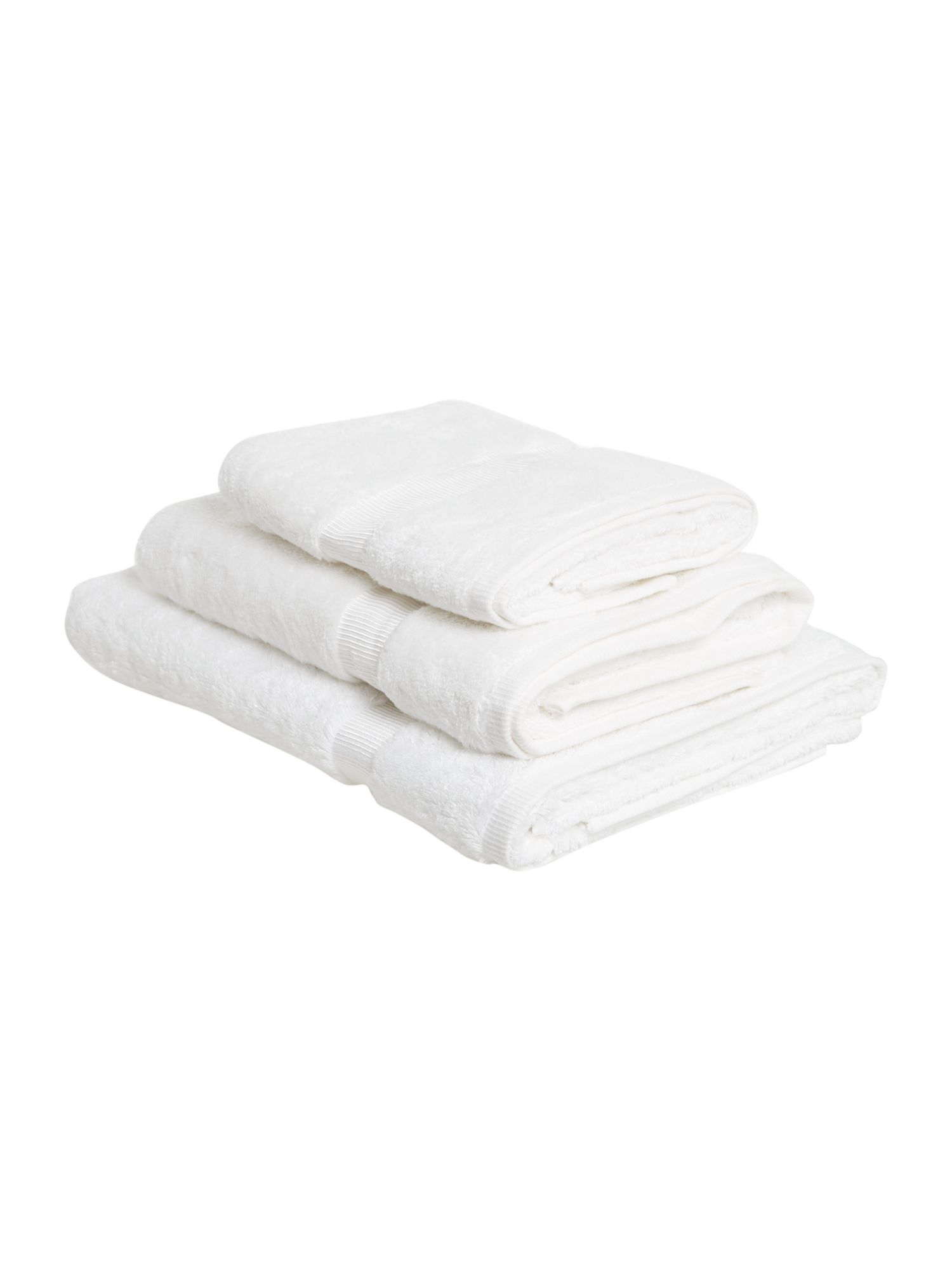 Cotton Modal towels in white