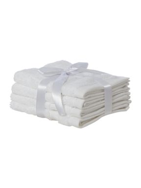 Luxury Hotel Collection Cotton Modal towels in white