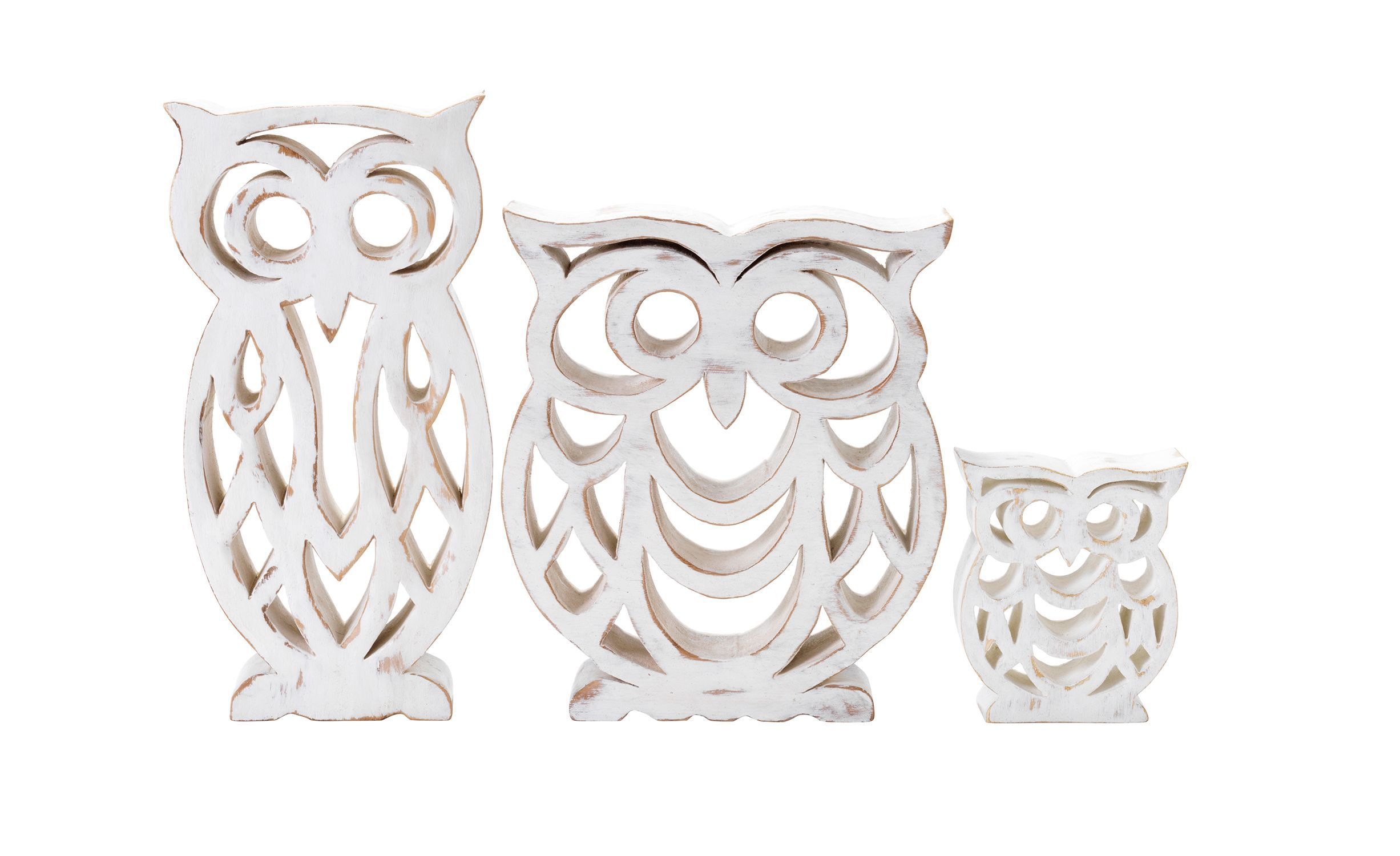 Wooden Owl Ornaments
