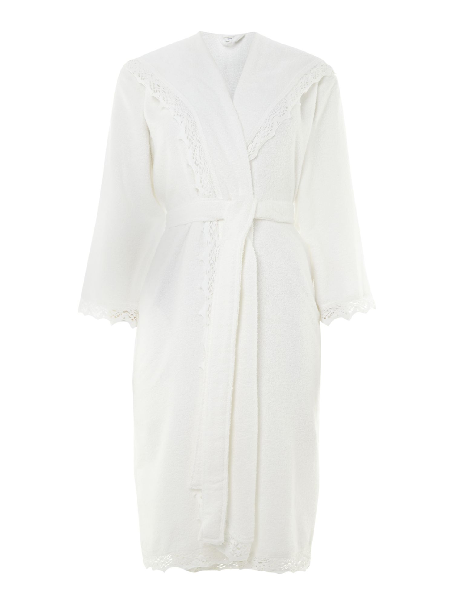 Crochet white robe