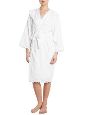 Shabby Chic Crochet white robe