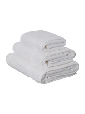 Luxury Hotel Collection Zero twist white towels 500GSM