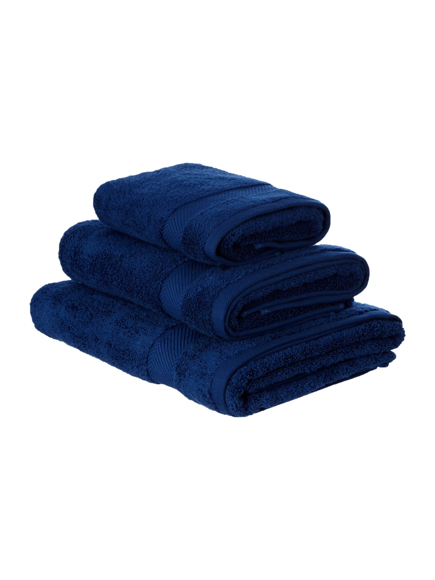 Zero twist navy towels