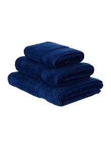 Luxury Hotel Collection Zero twist navy towels