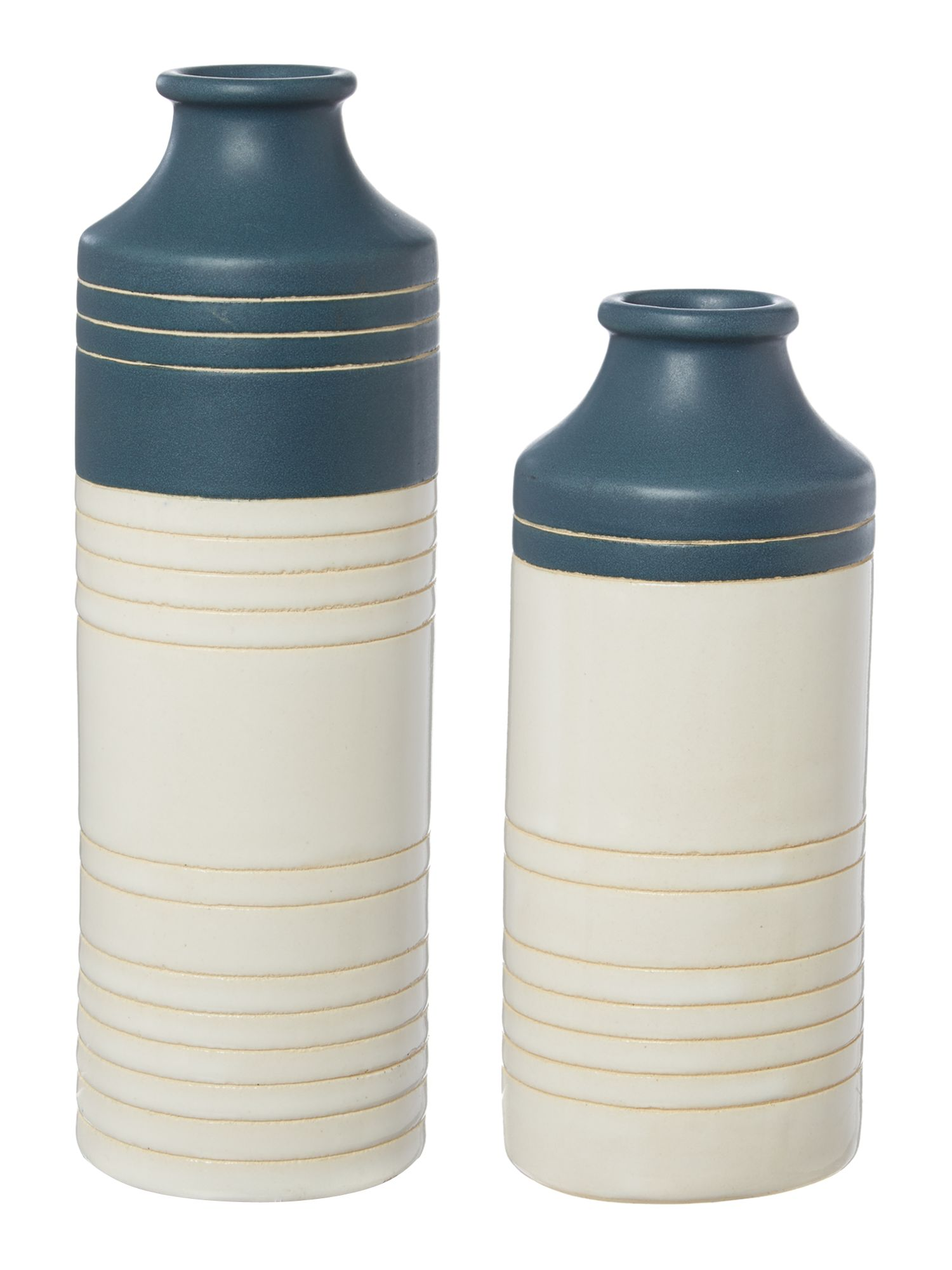 Stripe ceramic vase