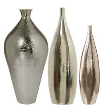 Hammered Metal Vase Range
