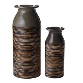 Linea Lacquer Bamboo Vases